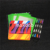 Wholesale Rubber Holders - 10pcs Square Small Waxmate Containers Silicone Rubber non-stick Silicon Storage Wax Jars Dab tool wax mat Concentrate Tool Dabber Oil Holder
