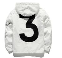 Wholesale zipper design trench coat - Newest design kanye yeezus Jacket Y 3 Men Women Sunscreen jacket windbreaker hooded streetwear mens trench coats ma1