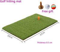 "Wholesale free residential - 25x37cm Backyard Golf Mat 10""x15"" Indoor Residential Training Hitting Pad Practice Golf Hitting Mats Rubber Tee ball free"