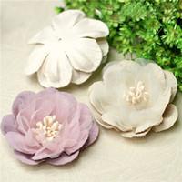 artesanías de terciopelo al por mayor-10Pcs Velvet Peony Bud 4 * 4cm Cabeza de flores artificiales para decoración de bodas DIY Guirnalda Caja de regalo Scrapbooking Craft Flores falsas