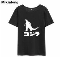 Wholesale japanese women cotton tops - OLN 2018 Harajuku Japanese Tshirt Women Funny Cotton T Shirt Women Vintage O-neck Short Sleeve Summer Top Tee Shirt Femme