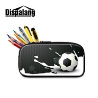 Wholesale pencil cases designs resale online - Dispalang Pencil Case Bag with Design Soccerly Printed Kid Birthday Lovely School Pouch for Boys Kindergarten Baby Favors Gift