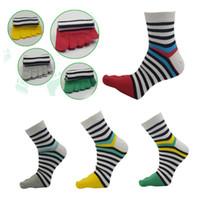 пальцевые носки для мужчин оптовых-1 Pair High Quality Mens Womens Middle socks Tube Cotton Five Finger Toe Socks For Men women Cotton  Crew Autumn Winter #F