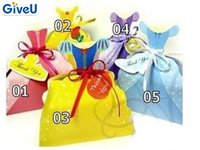 Wholesale Princess Snow - GiveU 10pcs lot Princess Dress Paper Candy Box Cinderella Belle Wedding Gift Bag Snow White Christmas Candy Boxes Birthday Party