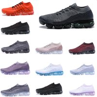 Wholesale day running lights - Betrue Vapormax shoes Triple Black 2018 Sneaker Flywire Mens Running shoes women Sports Trainer Day to Night WMNS Violet Dust