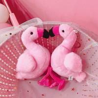ingrosso sacchi femminili-Web Celebrity Flamingo chiave Anello Firebird della bambola della peluche Car Set out Wedding Doll Swan Powder Bag Hung Femminile