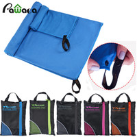 Wholesale microfiber towels for hair - 2pcs Larger Size Microfiber Travel Sport Towel Set Soft Quick Dry Beach Towels With Bag For Gym Swimming Yoga Travel Supplies