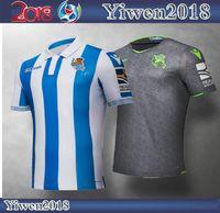 Wholesale real silk shirts - 2018 2019 Real Sociedad Home Away Soccer Jerseys18 19 Royal Society Free Ultra Fast XABI PRIETO CARLOS JUANMI Football Shirts uniform