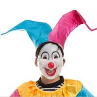 lächeln masken großhandel-5 Teile / satz Lustige Halloween Lächelndes Gesicht Clown Masken Vollgesichtsmaske Festliche Partei Halloween Clown Masken Dekoration Dropshipping