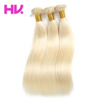 Wholesale 613 Blond straight malaysian a grade Virgin Hair bundles remy hair weave inch human hair double weft