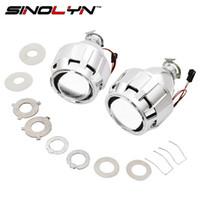 Wholesale bi xenon h4 projectors - SINOLYN Car Styling Mini 2.5 inches WST HID Bi xenon Headlight Projector Lens Retrofit DIY H7 H4 Headlamp Lenses, Use H1 Bulbs