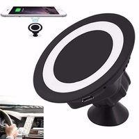 Wholesale Usb Rotary - 360 Rotary Car Mobile Phone Holder Car Wireless Charger Universal Mobile Phone Holder Charger with USB cable For Samsung iphone