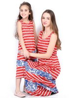 Wholesale plus size mother daughter matching clothes for sale - Group buy 2018 Mommy and Me Family Matching Mother Clothes Daughter Dresses Clothes Mom and Daughter Dress Outfit Plus Size Family Look