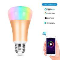 Wholesale led rgb iphone - 2.4G E27 Wifi Bulb 7W RGB White Warm White Led Bulbs Light For iPhone iOS Android Smartphone