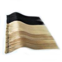 remy haarprodukte großhandel-Neue Produkte 2019 Hohe Qualität Cuticle Ausgerichtetes Remy Haar 6D Vorgebundene Haarverlängerungen Schwarz Braun Blonde 6D Haarverlängerungen