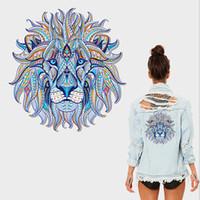 demir tasarımları toptan satış-Isı Transferi Yama DIY Sticker Aslan Kaplan Hayvan Demir-on Yıkanabilir Dayanıklı rozetleri Vinil Yama Giysi T-shirt Özelleştirmek için Özel Tasarım