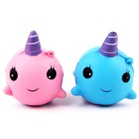 Wholesale Toy Whale Wholesale - Whale PU Cute Lovely Cartoon Pendant Kawaii Squishy Simulation Bread Food Squishy Super Kid Toy Decompression Toys