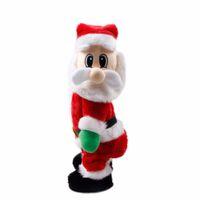 Wholesale h ornament - Christmas Electric Twerk Santa Claus Toy Music Dancing Doll Xmas Gags Practical Dancing Doll Xmas Gags Toys Navidad Gifts H