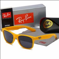 Wholesale frame glasses online - Fashion Sunglasses Men Women Sun Glasses Brand Designer Justin Mirror Gafas de sol Branded Designer Male Eyewear with cases 1 online
