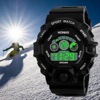 силиконовые электронные спортивные наручные часы оптовых-2018 New hot sale  Men Analog Digital  Army Sport LED Waterproof Wrist Watch men Clock Silicone Electronic Watch