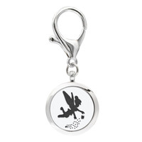 Wholesale 10 designs fly fairy KeyChain Essential Oil Aroma Diffuser Perfume Locket with Lobster clasp Keychain keyring With free Pads KA11 KA20