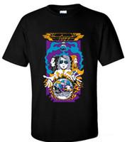 dessins de cou de bande achat en gros de-Cool Shirt Designs Imprimé O-Neck à manches courtes Mens Fuzz Tour T-shirt Psychédélique Rock Band Moon