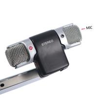 micrófono de grabación para portátil al por mayor-Rushed Sale Karaoke Computer Conference Micrófonos Microfono Skype Msn Singing Recording 3.5mm Micrófono de condensador Mic para PC Portátil