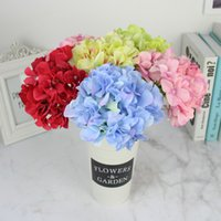 Wholesale fake flower balls - Silk Hydrangea Flowers Artificial Bridal Flowers Bride Bouquet Wedding Decorations Fake Table Centerpieces Kissing Balls Real Touch Flowers