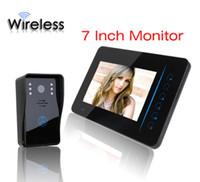 Wholesale Touch Video Intercom System - 7 Inch Wireless Video Door Phone Doorbell Intercom Touch Key IR Nigh Vision Waterproof Door Camera Home Video Intercom System