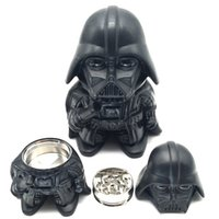Wholesale toys tools online - Newest Black Warrior Darth Vader Stormtrooper toy Metal Zinc Alloy Herb Grinder Tobacco Spice Crusher Cigarettes tools