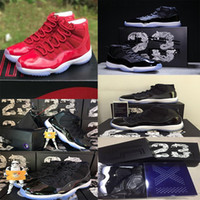 Wholesale Mens High Tops Sneakers - AAA+ quality air retro 11 mens basketball shoes top quality low&high red Heiress sneaker black& blue heiress athletic discount sport shoes