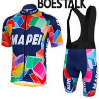 Wholesale cycling jerseys online - MAPEI new summer breathable sweat short sleeved cycling clothing quick drying mountain bike service Jersey
