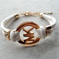 Wholesale children's bracelets for sale - Fashion children accessories handmade retro PU leather bracelet men s ladies fashion bracelet men and women jewelry