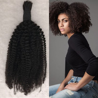 Wholesale human hair kinky curly bulk extensions for sale - Mongolian Bulk Hair Weave Natural Color Kinky Curly Human Hair Bulk Extensions Inch In Stock FDSHINE