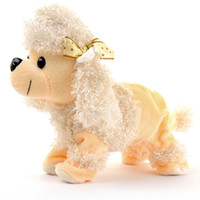 Wholesale pet dogs games - 1pc Cute Lovely Sound Control Electronic Dogs Interactive Pets Bark Stand Walk Fun Games Toys Children's Day Gift For Babys Kids