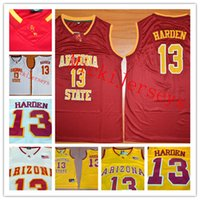 sale retailer efa43 b392d Mens NCAA Arizona State Sun Teufel James Harden College Basketball Jersey  genäht weiß rot   13 James Harden ASU Sun Devil Trikots S-3XL