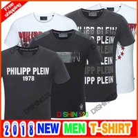 Wholesale skull bead crystals - 2018 Skull brand German Men shirt Best quality Italy high-end designer clothing shape perfect Asian Medusa men's T-shirt Short sleeve M-3XL