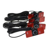 vara do carro preto venda por atacado-16.5mm Sensor de Estacionamento Plana Mini Simples com Interruptor Da Vara Asa Sonda Do Carro Invertendo Quatro Sensores Broca de Cor Múltipla 16mm DC 12 V Post