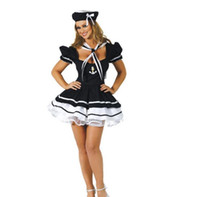 Wholesale sailor woman costume for sale - Sexy Women Navy Costume Festival Party supplier Girls Sailor Uniforms Halloween Carnival Fantasias Masquerade Cosplay Party Dress