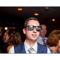 ingrosso groom groomsmen foto-Durevole Groomsman Spectacles Groom Maid Of Honor Wedding Decor Occhiali per foto divertenti Fotografia Puntelli Black 3ap2 BB