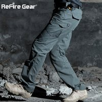 Wholesale army tactical gear resale online - ReFire Gear M3 Waterproof Tactical Pants Men SWAT Special Army Combat Cargo Pants Multi Pocket Rip stop Cotton Trousers