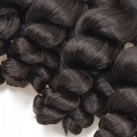 gevşek atkı saç uzantısı toptan satış-Bakire Saç Demetleri Gevşek Perulu Ham Hint İnsan Saç Uzantıları Gevşek Dalga Saç atkı 3 Adet Lot, Ücretsiz DHL