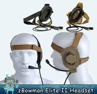 auriculares elite ii al por mayor-Z táctico Bowman Elite II Auriculares Auriculares para Z-TAC bowman Auriculares unilaterales Airsoft Accesorios Z027