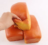 Wholesale jumbo squishy toast - Squishy Jumbo Loaf Giant Toast Slow Rising Super Soft Bread Cake Scented Squeeze Toys Stress Reliever DDA172