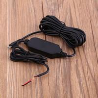 câmera de fio usb venda por atacado-12 V / 24 V para 5 V Cabo de Adaptador de Fio Duro 3.5 M Micro USB Linha Adaptador Para O Carro Traço Câmera Android