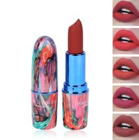 Wholesale colorful lipstick lips for sale - HABIBI BEAUTY Colors Matte Lipstick Red Velvet Lips Makeup Long Lasting Waterproof Lip Gloss Batom Cosmetics Colorful Tube
