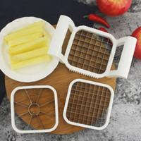 ingrosso affettatrice di patate di mele-3 pz \ Set Apple Cutter Machines Affettatrice Verdura Coltello Multifunzionale Chips Di Patate Manuale Striscia Chopper Utensili Da Cucina