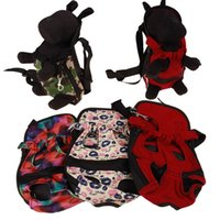 rote hund tragetaschen großhandel-Dog Carrier Mode Rote Farbe Reise Hund Rucksack Atmungs Pet Taschen Schulter Haustier Träger