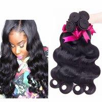 peru saç ürünleri vücut dalgası toptan satış-Rosa Saç Ürünleri Perulu doğa Saç Vücut Dalga 3,4,5 Adet Lot Karışımları Uzunluk 8