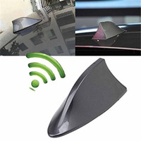 Wholesale car truck red online - New Auto Car Shark Fin Universal Roof Antenna Radio Signal For Auto Truck Van AM FM Signal Shark Fin Style Aerial Antenna Cover